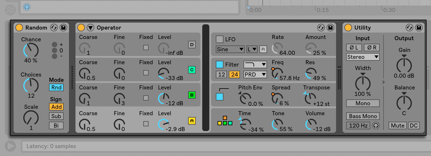 instruments in Ableton