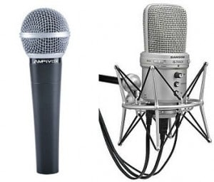 difference between a dynamic mic and  a condenser mic