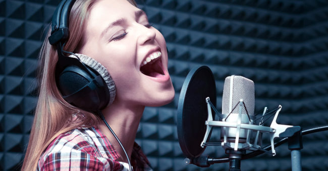 Woman sing better in studio